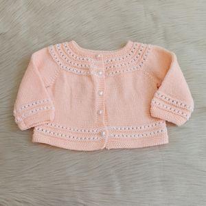 Baby Girl Crochet Cardigan